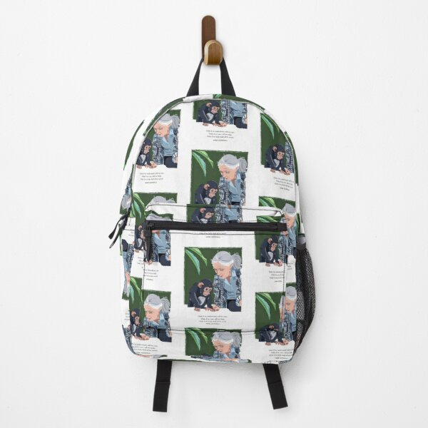 Jane Goodall And Chimpanzee Understand, Care, Help. Classic T-Shirt Monkeyy Backpack