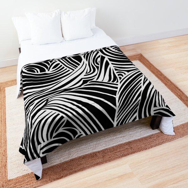 Black and Cream Hidden Roses 03 Comforter