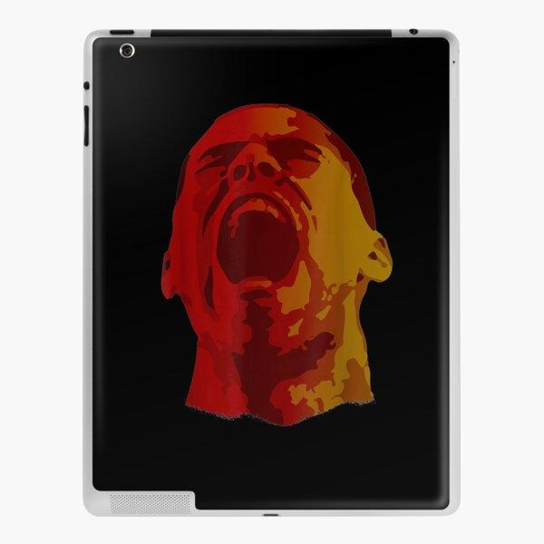 Man Face Screaming Portrait Art Black  iPad Skin