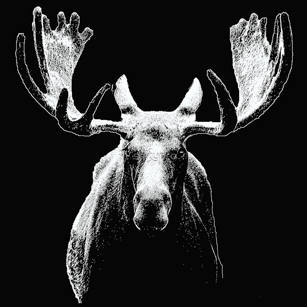Bull moose white  by saltypro