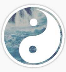 Ying Yang Beach Sticker