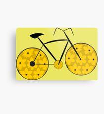 Floral bike ride in yellow Metal Print