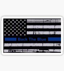 Back the blue flag Sticker