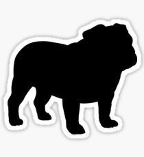 Bulldog Silhouette(s) Sticker