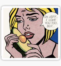 Avocado Lichtenstein Sticker