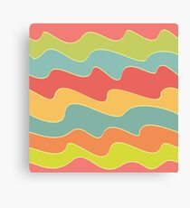 Funny colorful wave pattern Canvas Print