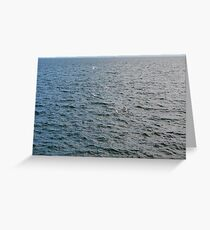 Pattern with the sea. Greeting Card