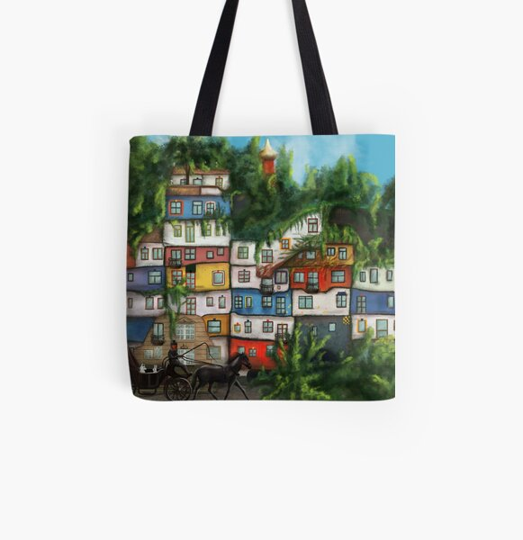Hundertwasserhaus All Over Print Tote Bag