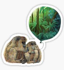 Balloon Monkey dream Sticker