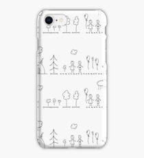 Doodle pattern iPhone Case/Skin