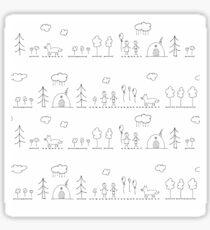 Doodle pattern Sticker