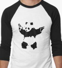 Banksy - Panda With Guns Men's Baseball ¾ T-Shirt