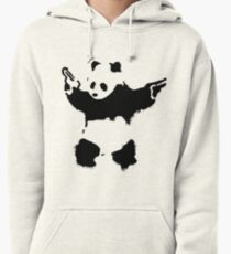 Banksy - Panda With Guns Pullover Hoodie