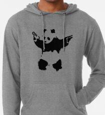 Sudadera con capucha ligera Banksy - Panda con armas de fuego