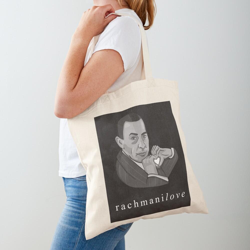 """Rachmaninov """"RachmaniLOVE"""" classical composer funny Tote Bag"""