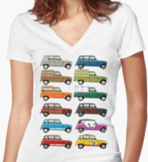 Renault 4 Women's Fitted V-Neck T-Shirt