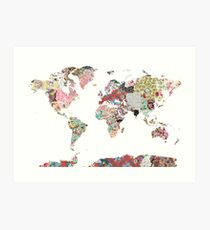 World map Art Print