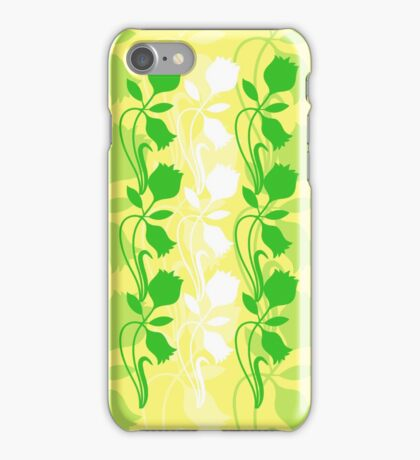 Layered Floral Silhouette Print (8 of 8 please see notes) iPhone Case/Skin