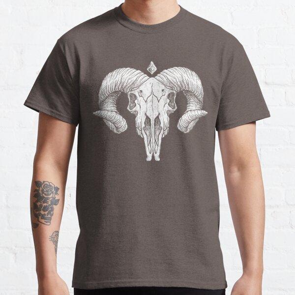 Illustrated Goat Skull - white Classic T-Shirt