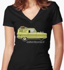 Reliant Regal Supervan from Only Fools and Horses Women's Fitted V-Neck T-Shirt