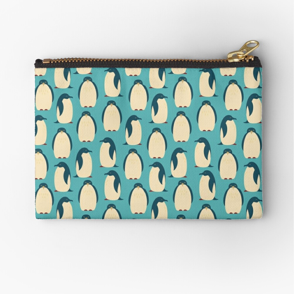 Happy penguins Zipper Pouch