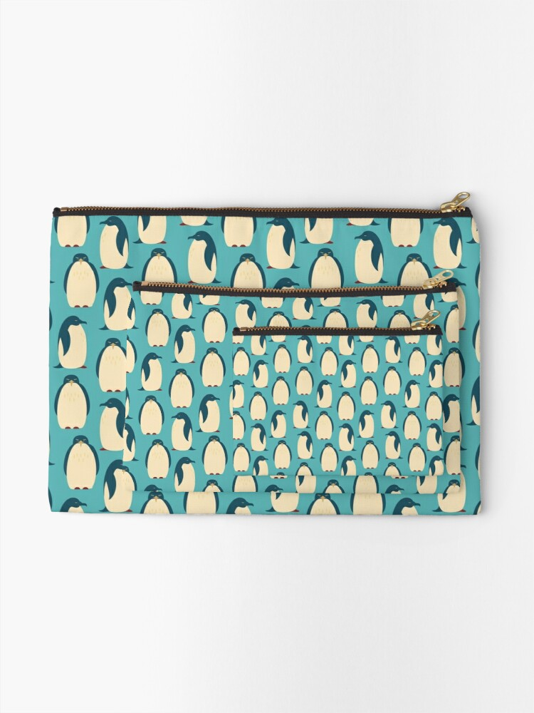 Alternate view of Happy penguins Zipper Pouch