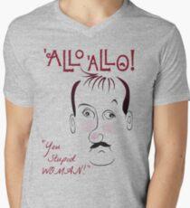 Gorden Kaye You Stupid Woman Male T Shirt Allo Allo Rene Artois