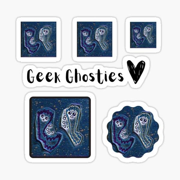 Lola + Zed BFF Best Friends and Geek Ghosts     GEEKS IN OTHER WORLDS   Sticker