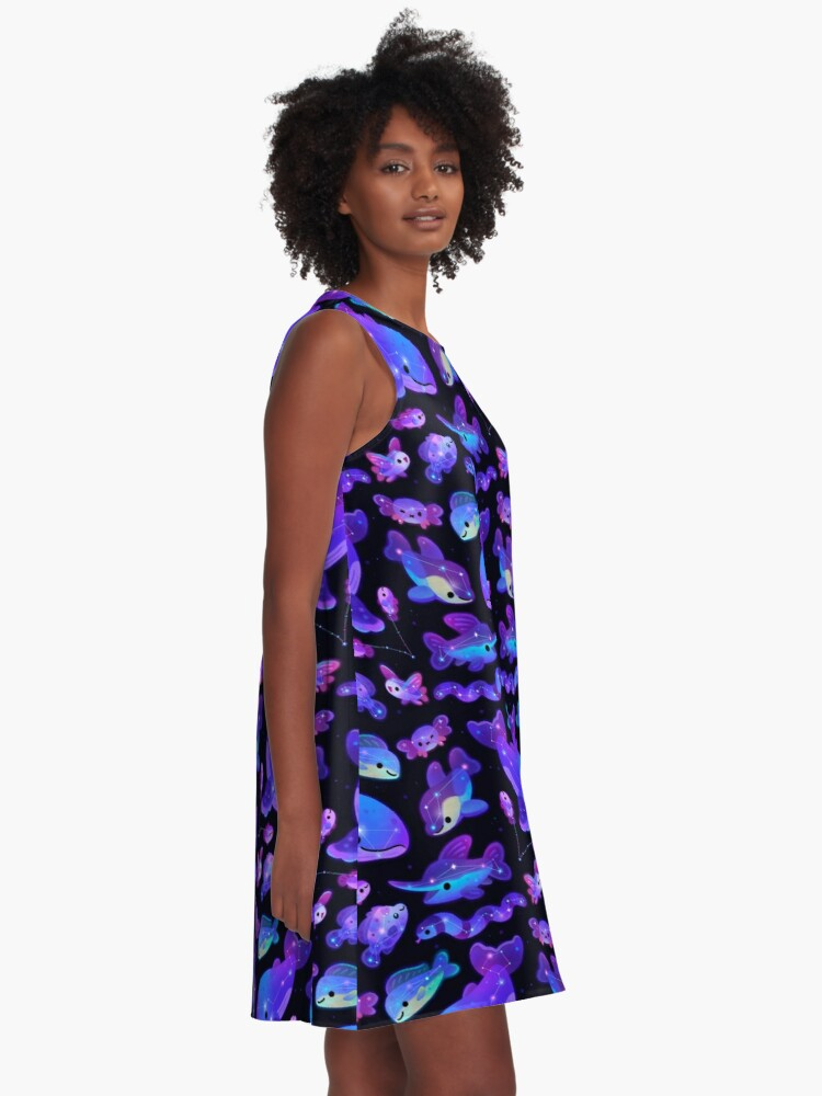 Alternate view of Ocean constellations A-Line Dress