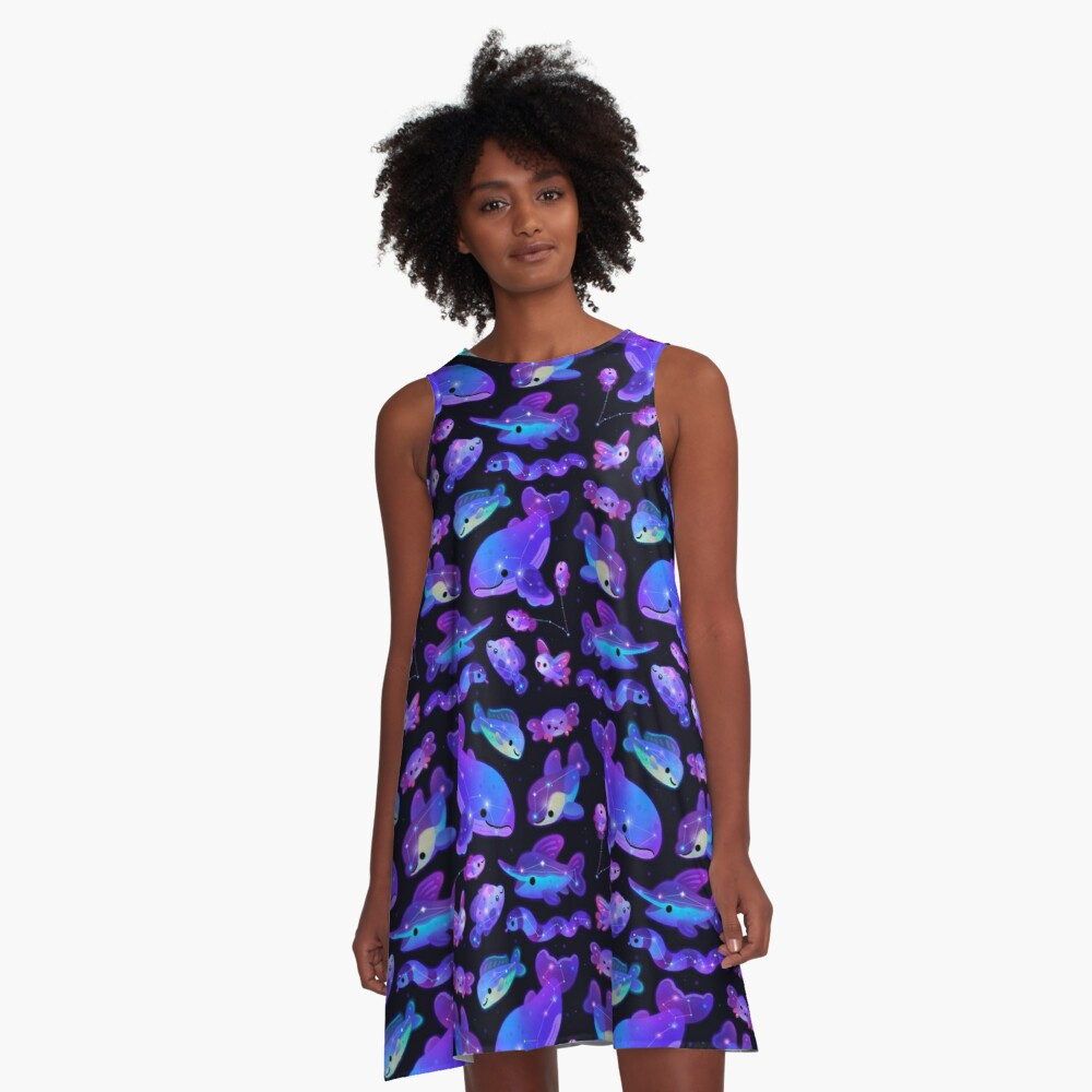 Ocean constellations A-Line Dress