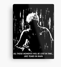 Blade Runner - Like Tears in Rain Metal Print