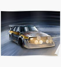 Audi Sport quattro S1 Group B Rally Car Poster