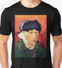 Vincent van Gogh - Self Portrait with Bandaged Ear and Pipe Unisex T-Shirt