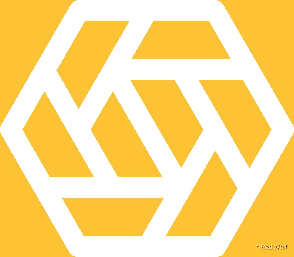 Geometric Pattern: Aperture: Yellow/White by * Red Wolf