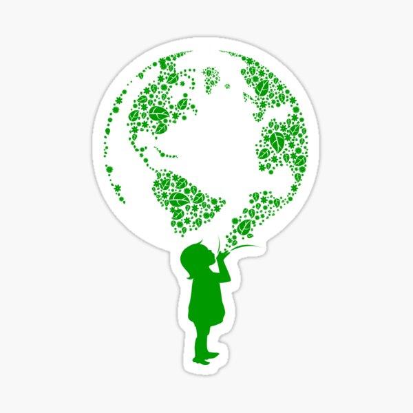 Erdkind (grün) Sticker