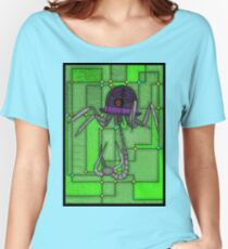 Robotic Bowler Hat - stained glass villains Women's Relaxed Fit T-Shirt