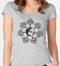 Earth Tree People (black) Women's Fitted Scoop T-Shirt