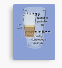theory and correlation Canvas Print