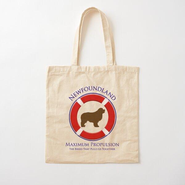 Newfoundland - Maximum Propulsion, Brown Newf Cotton Tote Bag