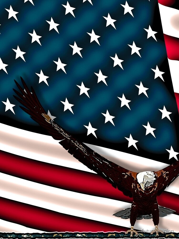 Patriotic Respect w/Eagle & USA Flag by futureimaging