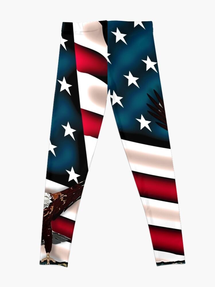 Alternate view of Patriotic Respect w/Eagle & USA Flag Leggings