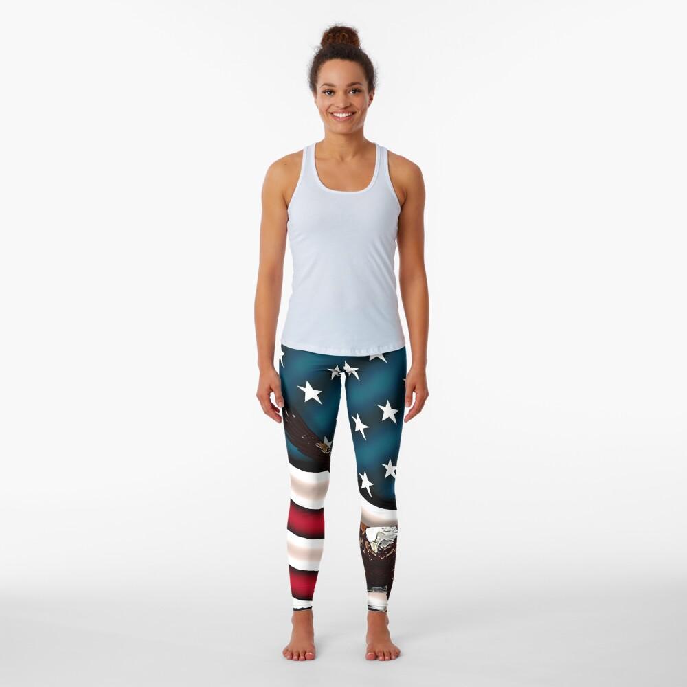 Patriotic Respect w/Eagle & USA Flag Leggings