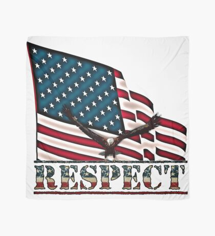 Patriotic Respect w/Eagle & USA Flag Scarf