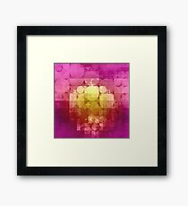 matted geometry Framed Print
