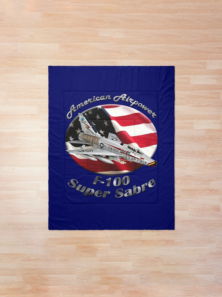 Alternate view of F-100 Super Sabre American Airpower Comforter