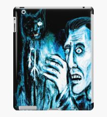 The Black cat reveals the gallows iPad Case/Skin