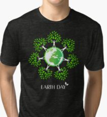 Earth Day Tree People Tri-blend T-Shirt