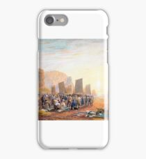 David Cox, the elder (English, ) The Fish Market on the Beach at Hastings iPhone Case/Skin