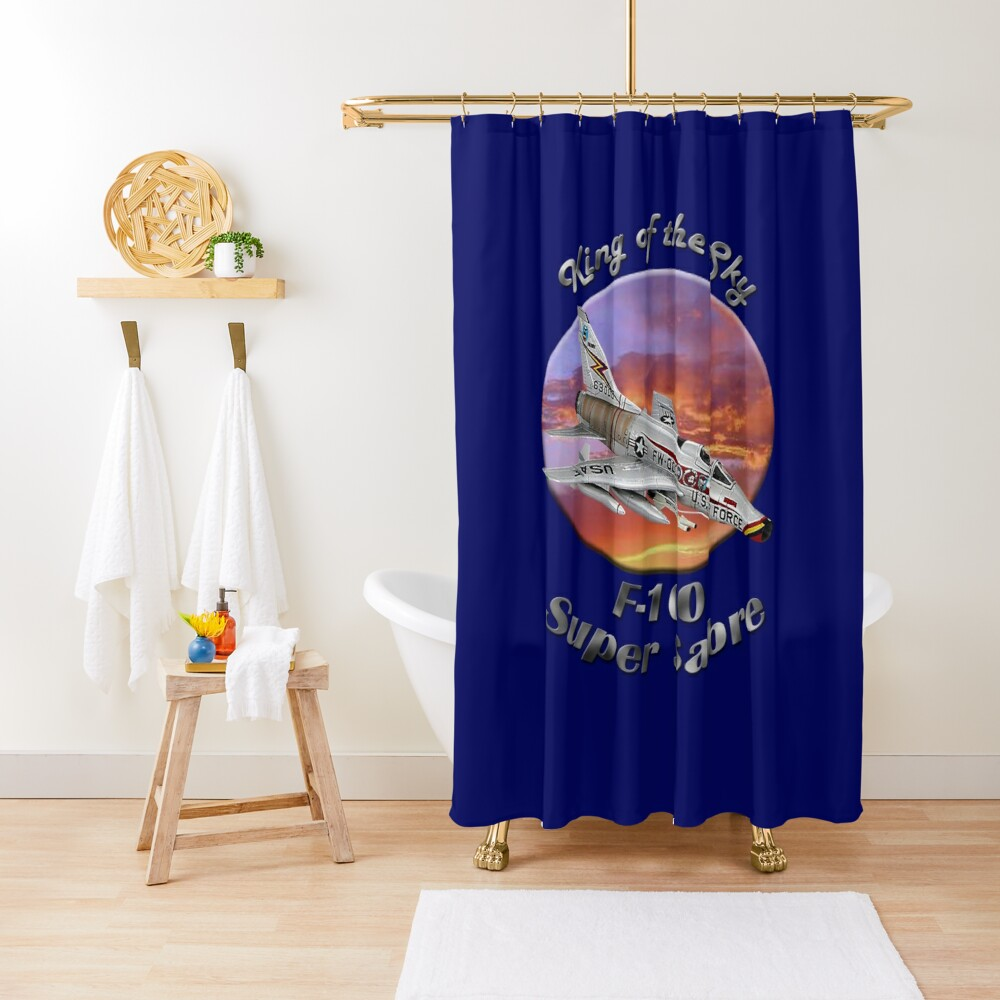 F-100 Super Sabre King Of The Sky Shower Curtain