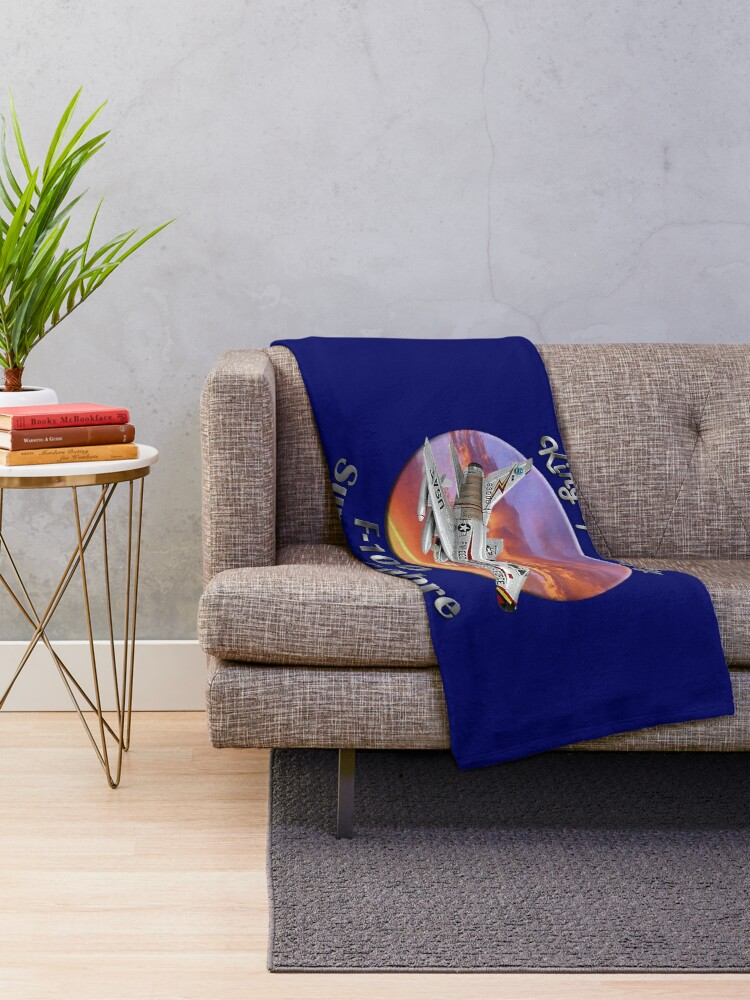 Alternate view of F-100 Super Sabre King Of The Sky Throw Blanket